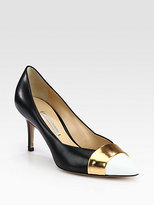 Nicholas Kirkwood Leather & Patent Leather Pumps