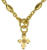 Chanel Gold Cross Pendant Necklace