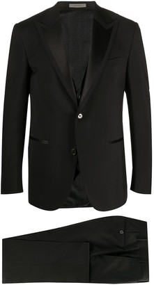 Corneliani fine knit front pleated suit