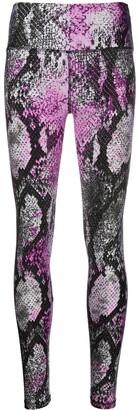 MSGM Snakeskin-Print Performance Leggings