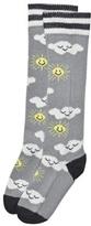The Bonnie Mob Grey Sunshine And Clouds Knee Length Socks