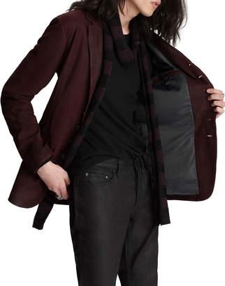 John Varvatos Men's Slim-Fit Goat Suede Two-Button Jacket