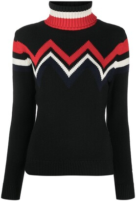 Perfect Moment Chevron Knit Roll Neck Jumper