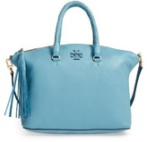 Tory Burch Taylor Leather Satchel - Blue