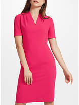 John Lewis Pleat Neck Fitted Dress