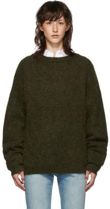 Acne Studios Green Dramatic Mohair Sweater