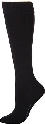 Falke Soft Merino Knee Highs (Black) Women's Knee High Socks Shoes