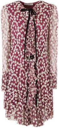 Philosophy di Lorenzo Serafini Mini Dress In Burgundy Tulle
