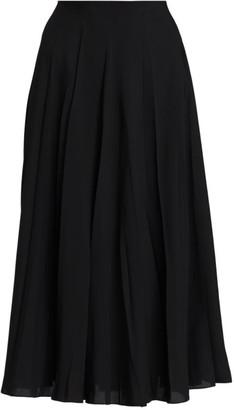 The Row Travi Pleated Midi Skirt
