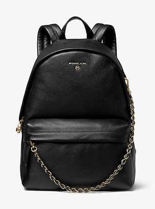 Michael Kors Slater Large Pebbled Leather Backpack
