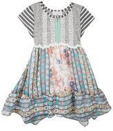 Rare Editions Girls 2-6x Striped Flared Dress