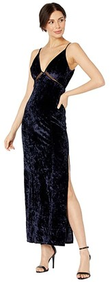 Free People Low Key Crushin' Velvet Dress (Rare Night) Women's Dress