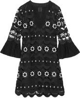 Anna Sui Medallion guipure lace mini dress