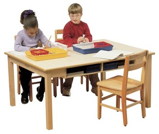 "Child Craft Childcraft 48"" x 36"" Rectangular Activity Table Childcraft Size: 26"" H x 48"" L x 36"" W"