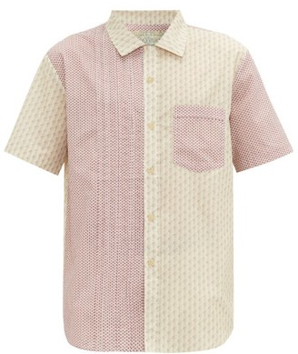 By Walid Carson Patchwork Cotton-poplin Shirt - Pink Multi