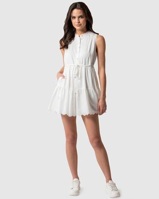 Forever New Alex Petite Textured Smock Dress