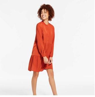 Joe Fresh Women's Tiered Shirt Dress, Dusty Orange (Size XS)