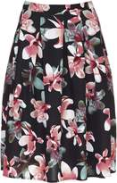 Yumi Floral Print Pleat Skirt