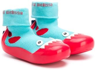 Mini Melissa Shark Sock Ankle Boots