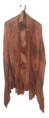 Jean Paul Gaultier Brown Cotton Top for Women Vintage