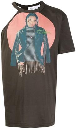 Telfar asymmetric graphic print T-shirt