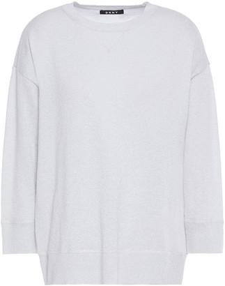 DKNY Metallic Cotton And Lurex-blend Sweater