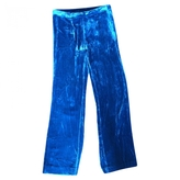Isabel Marant Green Viscose Trousers