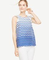 Ann Taylor Blurred Stripe Top