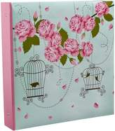 Arpan 10 x 15 cm Large Vintage Rose Cage Shabby Chic Style Ring Binder Photo Album For 500 Photo's by ARPAN