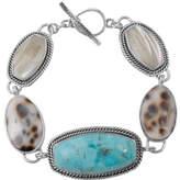 Barse Women's Sterling Silver/Genuine Stone Bracelet CATAB01MU