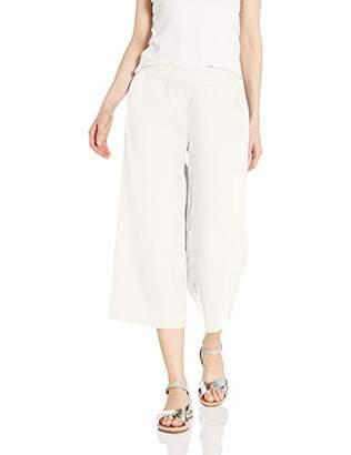Daily Ritual Linen Wide-Leg Crop Casual Pants,16