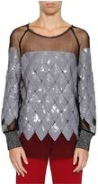 Aviu Sequinned Rhombus Sweatshirt