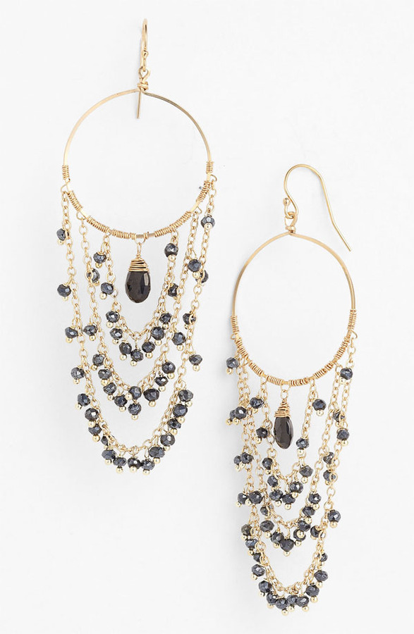Nunu Designs Chain & Frontal Hoop Earrings