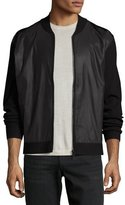 Theory Salleg FZ Fine Bilen Mixed-Media Jacket, Black