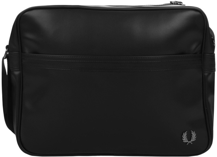 Fred Perry Classic Texture Shoulder Bag Black