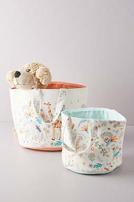 Paper & Cloth Dreamland Kids Storage Bin By Paper & Cloth in White Size S
