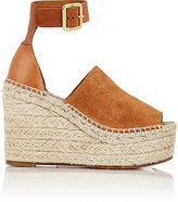 Chloé Women's Espadrille Wedge Sandals-TAN
