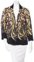 Yigal Azrouel Silk Printed Jacket w/ Tags