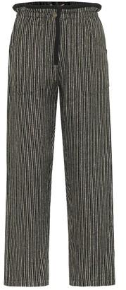 Saint Laurent Striped metallic pants