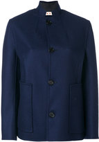 Marni mandarin collar jacket - women - Polyamide/Wool/Virgin Wool - 40