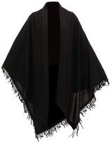 Rick Owens Oversized Cashmere Shawl Scarf - Womens - Black
