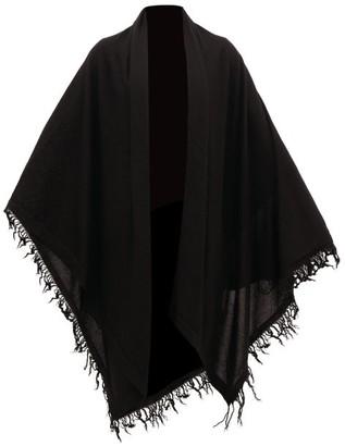 Rick Owens Oversized Cashmere Shawl Scarf - Black
