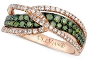 LeVian Le Vian Exotics Diamond Crisscross Ring (1 ct. t.w.) in 14k Rose Gold