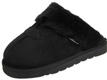 Journee Collection Womens Faux Suede Backless Slippers