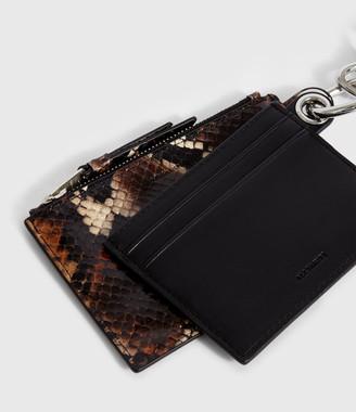 AllSaints Dive Sliver Leather Key Fob