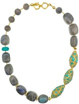 Freshwater Pearls With Labradorite Double Strands Necklace