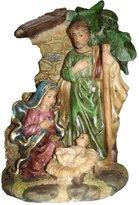 """Sterling 6"""" Religious Holy Family Nativity Scene Under Cresh"""