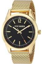 Steve Madden Dial Mesh Band Watch