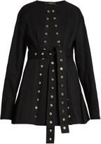 Ellery Femme eyelet-embellished denim jacket