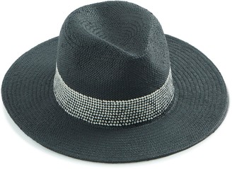 Fedora With Woven Trim